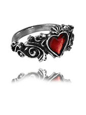 Alchemy Gothic R134 Romantic Red Heart BETROTHAL Ladies Ring English Pewter T