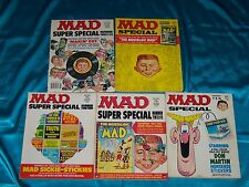 MAD SUPER SPECIALS: 5 Issues, 1970s, No Inserts, USED READING COPIES