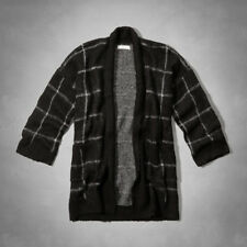 Abercrombie Hollister Womens Plaid Cardigan Sweater NWT M