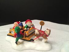 School Sleigh Express - Dept 56 North Pole Accessory - Children - Kids - Bus
