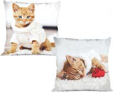 Kissen Kuschelkissen Dekokissen mit Katze 40 x 40 cm