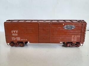 O Scale 2 Rail Model Trains Train Wood Built Kit Illinois Central Boxcar Kit
