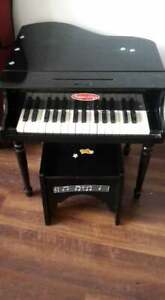 Melissa and Doug Grand Piano and Stool Play Piano Toy Wood