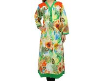 Ladies Kurti/Kurta Ethnic Design Tunic dress top Green Floral
