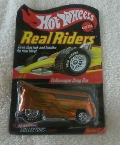 HOT WHEELS RLC REAL RIDERS ORANGE VW Drag Bus  0644/11000
