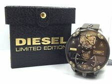 DIESEL AUTOMATIC DOUBLE TIME LIMITED EDITION HUGE 62X70MM WATCH DZ7365 NIB $795