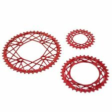 KCNC Cobweb Serie CNC 7075 Alloy Chainring Set 48-36-24T, Red