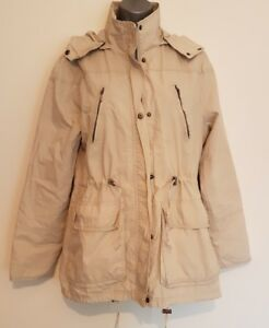 Size 12 Jacket/Coat CHEROKEE Natural Beige Great Condition Ladies Casual Hooded