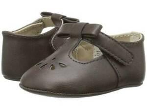 Baby Deer Dark Brown T-Strap Crawling Shoe Baby Size 3