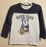 """Kids Headquarters Toddler Boy Long Sleeve T-Shirt Size 3T """"Game Face"""""""