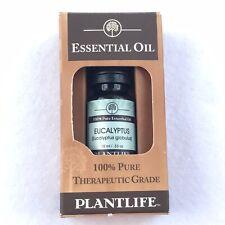 Plantlife Essential Eucalyptus 100% Pure Therapeutic Grade .33 oz 10 ml NEW