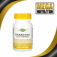 Nature's Way Activated Charcoal 100 Capsules | Gas Bloating Cleansing Supplement