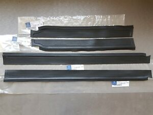 Genuine Mercedes-Benz W114 W115 Rubber Door Sills Black