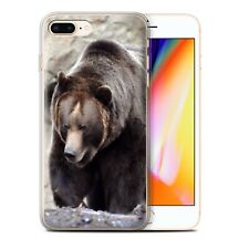 Animaux sauvages Coque Gel pour iPhone 8 Plus/Ours