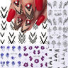13 Sheets Nail Art Water Decals Stickers Flower Geometric Manicure Decor Tips