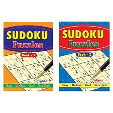 2 X Large Print Sudoku Puzzle Books Book 234  Puzzles A4 Pages Fun Trivia