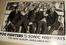 Foo Fighters Sonic Highways Original Ds Promo Card Print 2014 Dave Grohl Cool