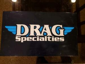 Drag Specialties Black 24 x 14 shop Garage Bar Harley motorcycle sign