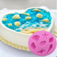 3D Shell Silicone Mold Fondant Cake Decorating Chocolate Sugarcraft Mould Tool