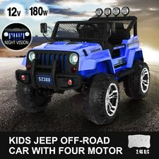 Electric Ride on Jeep Remote Control Off Road Truck Kids Car w/Built-in Music BL