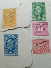 5 DOCUMENT STAMPS from documents
