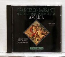 ARCADIA - FRANCESCO BARSANTI Sonate a flauto solo con basso op.1 SYMPHONIA CD NM
