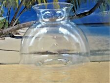 SHADE SHAPED CLEAR GLASS CHINEY GLOBE FOR KEROSENE OIL OR ELECTRIC LAMPS