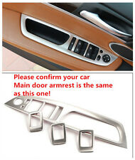 Steel Interior door armrest Decoration cover trim 4pcs For BMW X6 E71 2009-2014
