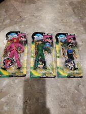 "Yu Yu Hakusho's Set of 3 ""Yusuke Green Figure, HIEI blue shirt + Kurama pink New"