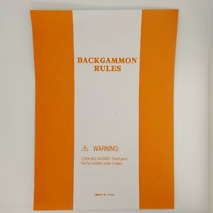 Backgammon Rules Instructions Manual Booklet Replacement Game Parts
