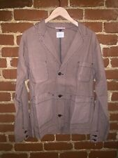 Apolis Global Citizen Taupe Cotton 3 Button Military Jacket Size Medium