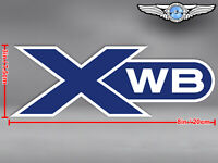 LARGE AIRBUS XWB EXTRA WIDE BODY CUT TO SHAPE LOGO DECAL / STICKER
