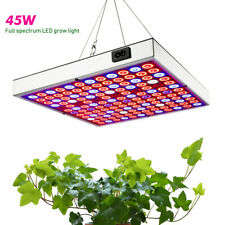 45W Full Spectrum LED Grow Light Hydroponic Panel UV IR Lamp Plant Seeding Bloom