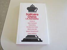 Vintage Allan Troy Chess Book-shelf#1 HARDBACK Horowitz's Solitaire Chess