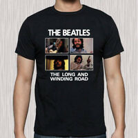 The Beatles The Long And Winding Road Music Men's Black T-Shirt Size S to 3XL