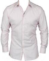 New Ted Baker Mens Box Texture Endurance Shirt in Pink Colour Size 34/35