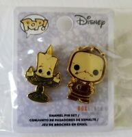 Disney Pop! Beauty and The Beast Lumiere and Cogsworth Enamel Trading Pin Set