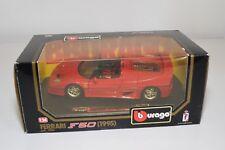 V 1:24 BBURAGO BURAGO 1552 FERRARI F50 1995 RED MINT BOXED