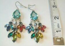 sparkling retro pierced earrings Vintage lightweight faux gemstone