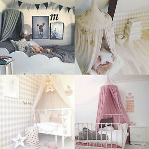 Kids Crib Bed Canopy Bedspread Mosquito Net Curtain Bedding Dome Tent Cotton