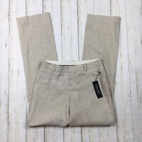 Banana Republic Womens Size 0 Beige Tan Linen Blend Contoured Fit Pants New NWT