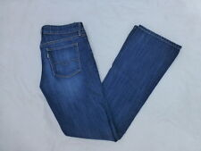 WOMENS LEVIS WHITE TAG ECO GREEN 'E' SKINNY BOOTCUT JEANS SIZE 8x33 #W1851