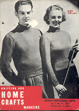 HOME CRAFTS - 1937 Ladies Retro Knitting Pattern Book - Dresses Sweaters