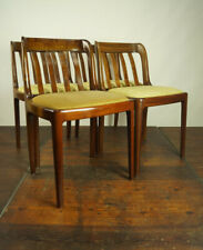 4x Vintage Chairs Danish Retro Dining Room Chair Walnut mid-Century 60er 1/2