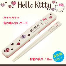 【Hello kitty】HASHI Chopsticks&chopsticks-case white kawaii sanrio  japan limited