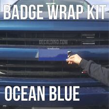 Ocean Blue Truck Emblem Wrap Kit - Chevy Silverado BowTie Badge Colormatch z71