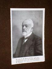 Il Duca Giovanni Battista Borea d'Olmo nel 1913 Düca Bacicìn