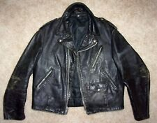 RARE Vtg SCHOTT PERFECTO Horsehide~SPECIALLY MADE~Motorcycle LEATHER JACKET 46