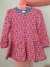 Lovely Baby Girls Mini club Pink LoveBird Pattern Tunic Top 18-24m🎀