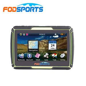 "4.3"" SAT NAV Waterproof Bluetooth Car Motorcycle GPS Navigation 8GB Free EU Maps"